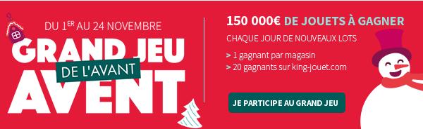 Du 1er au 24 novembre Grand Jeu de l'avant Avent : 150 000€ de jouets à gagner
