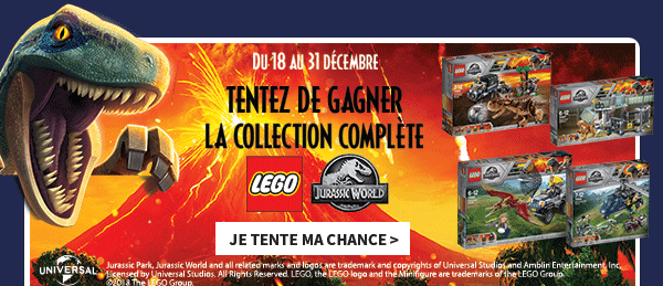 jeu concours Lego Jurassic World
